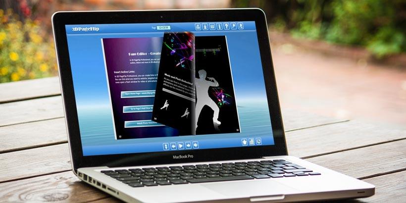 Como fazer um Flipbook com um efeito flip usando o exemplo do flipbook de dançar