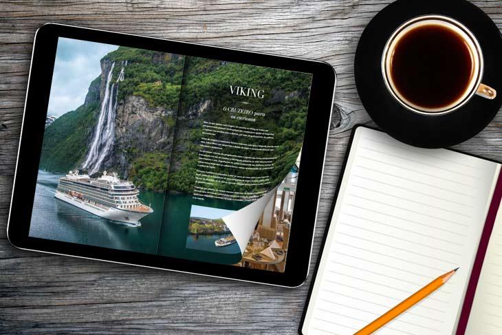 PDF Flipbook HTML5 com um efeito de flip no Tablet