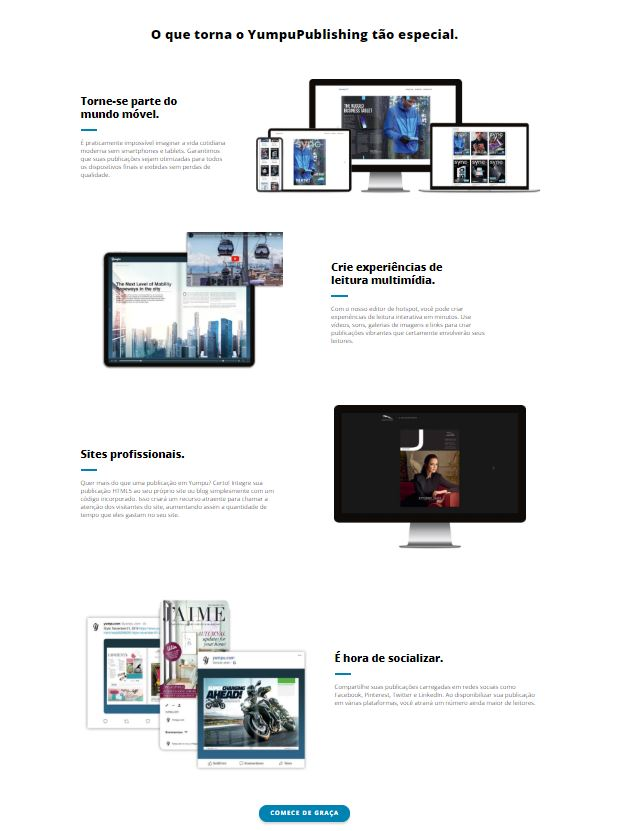 Funções da publicação de YumpuPublishing